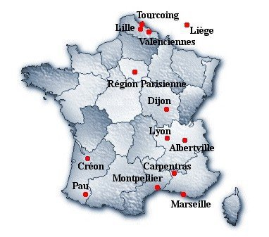 carte des clubs